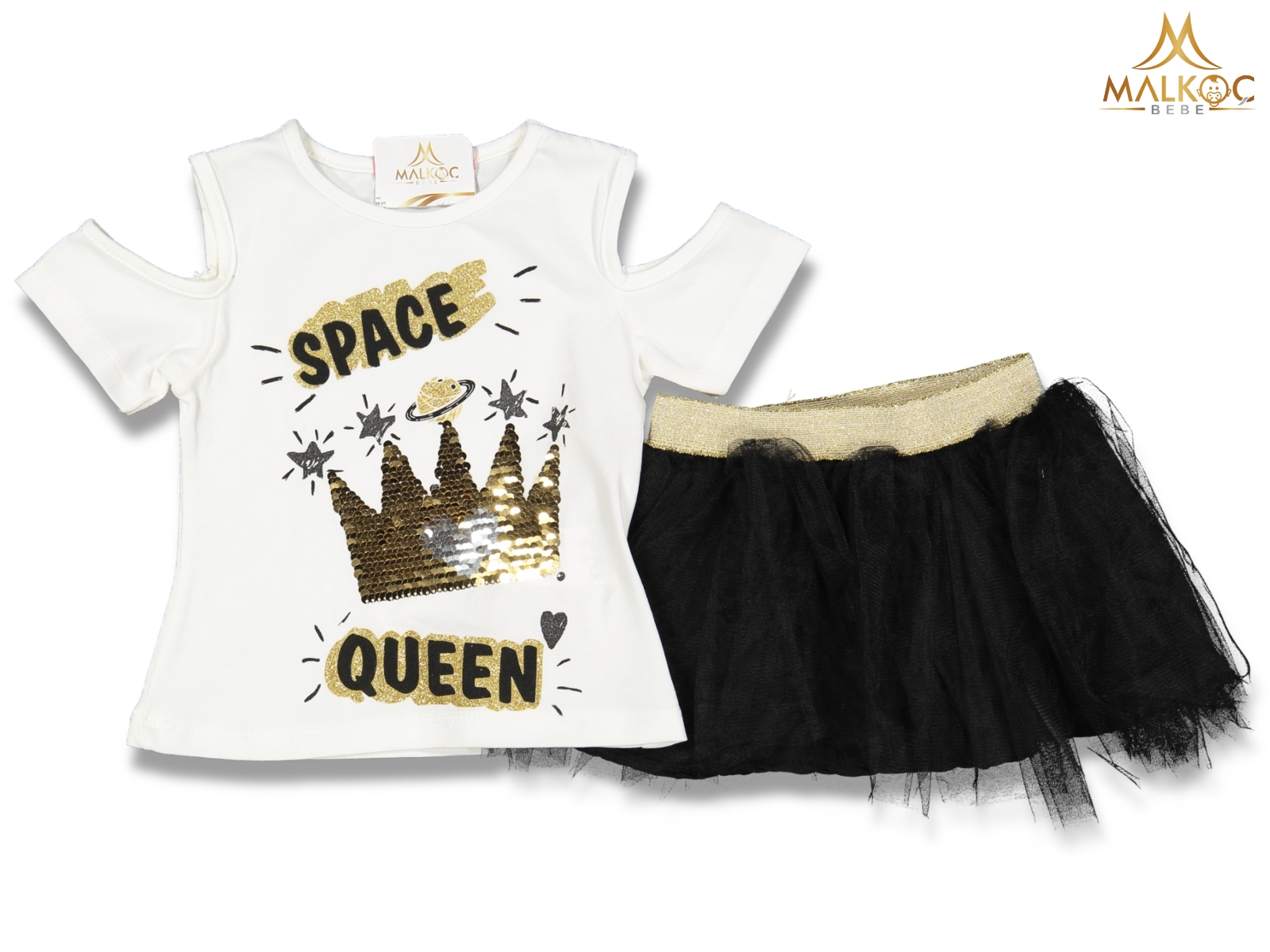 KIZ 2/5 YAŞ SPACE QUEEN TAÇLI SET
