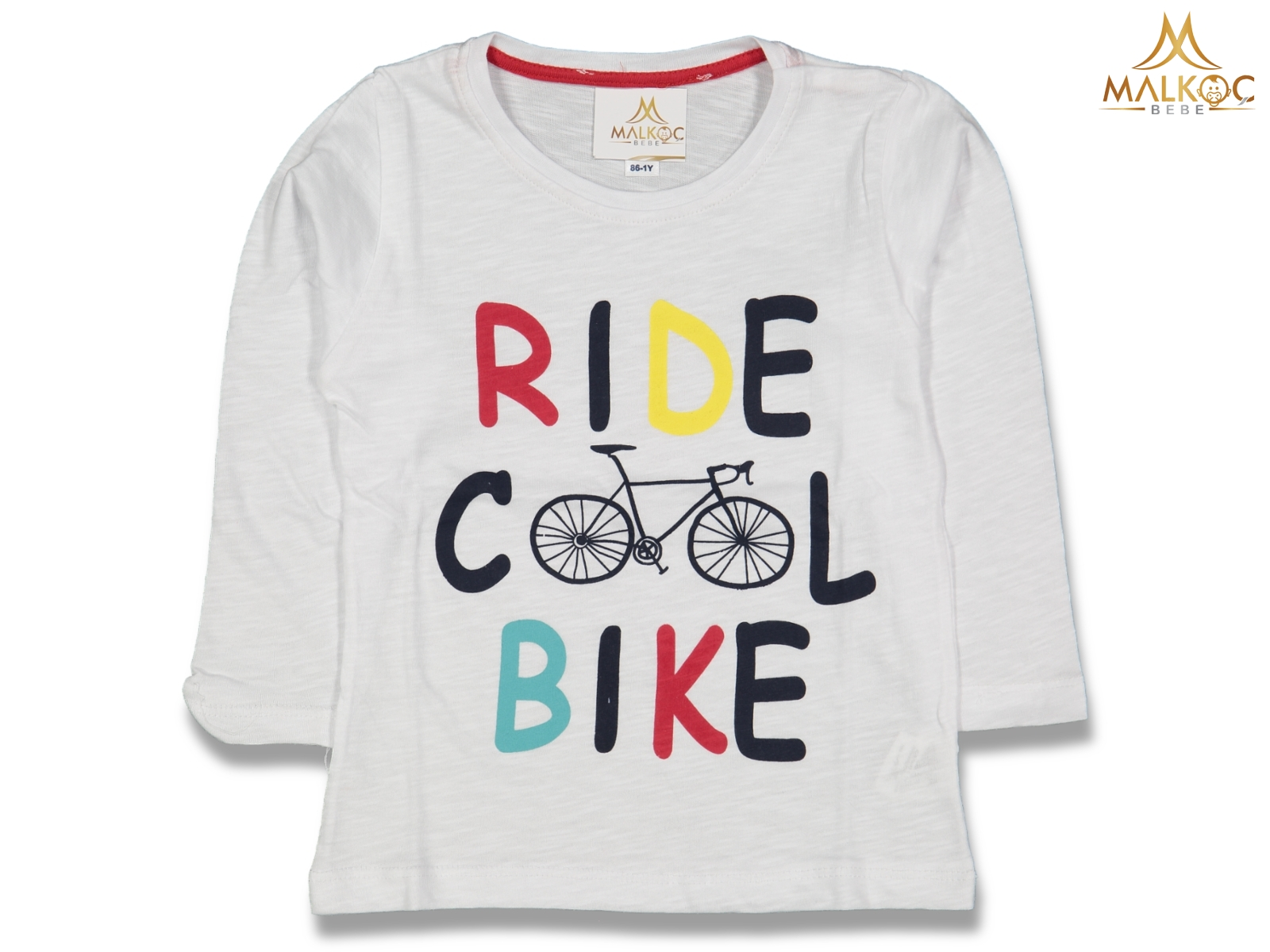 ERKEK 1/4 YAŞ RIDE COOL BIKE BASKI SWEAT