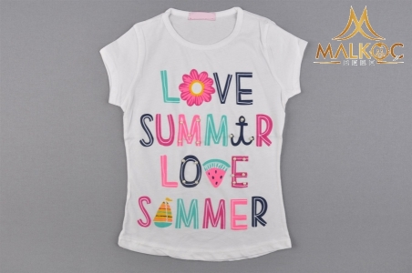 KIZ 6/10 YAŞ LOVE SUMMER BAS. İNCİLİ BADİ
