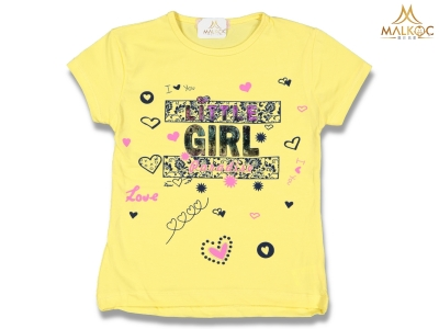KIZ 3/7 YAŞ ÇAMUR LİTTLE GIRL BASKI BADİ