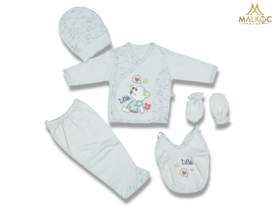 BEBE 5 Lİ Hİ LİTTLE KIRÇILLI ZIBIN SET