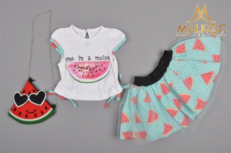KIZ 1/4YAŞ FASHIONABLE MELON 2Lİ TAKIM