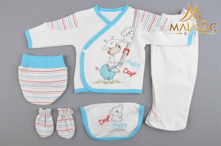 BEBE HAPPY DADYS ÇİZGİLİ 5Lİ ZIBIN SET